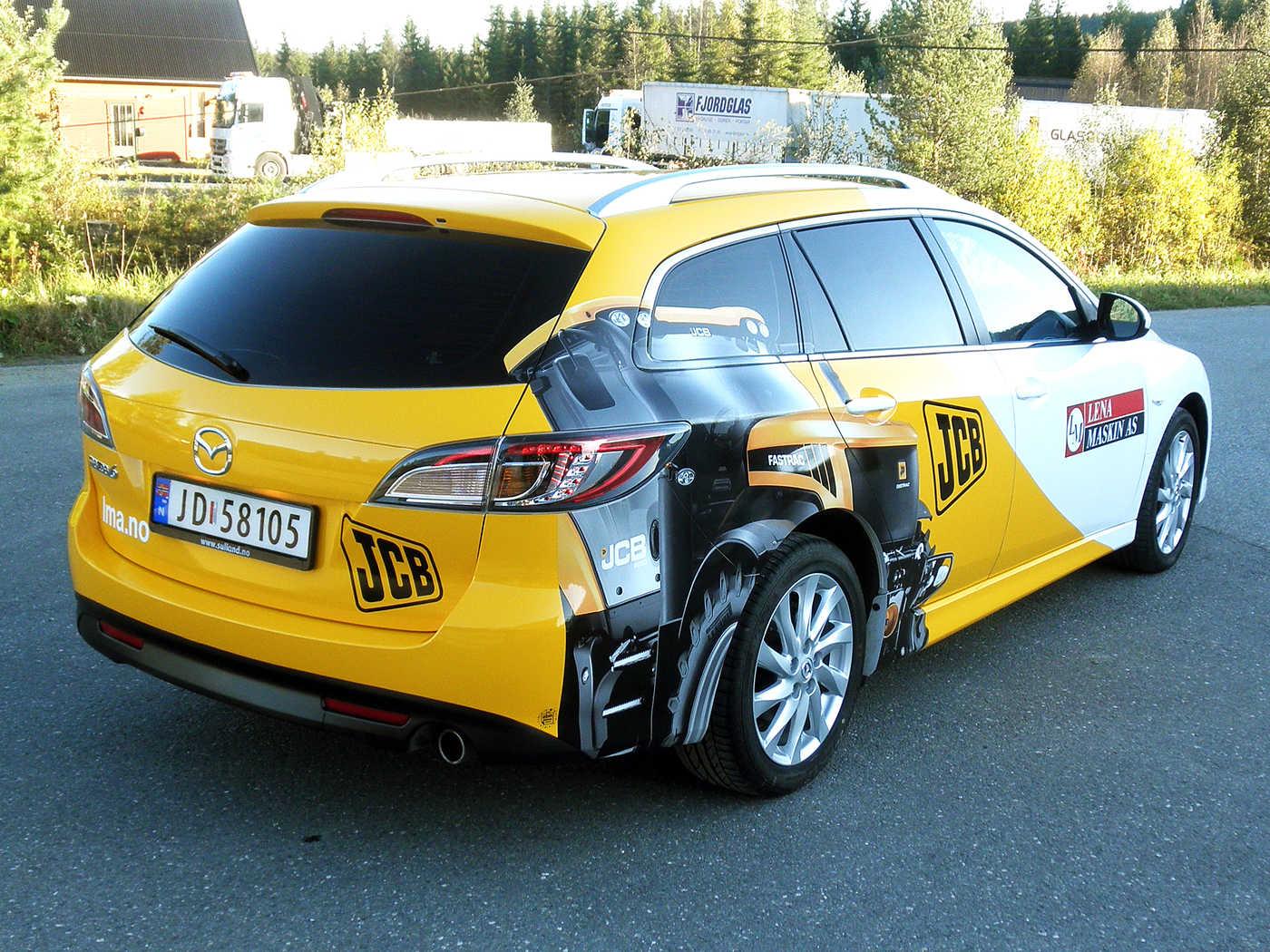 Bildekor: Logo og dekor på personbiler - ABM Reklame